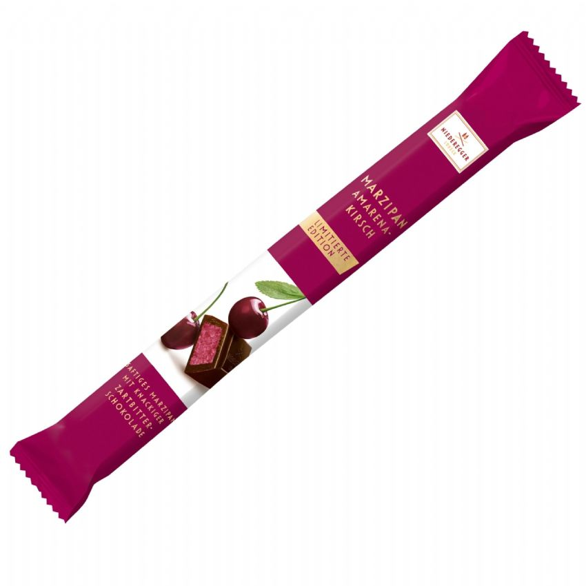 Cherry Amarena Kirsch Long Stick Dark Chocolate Marzipan NIEDEREGGER 40g